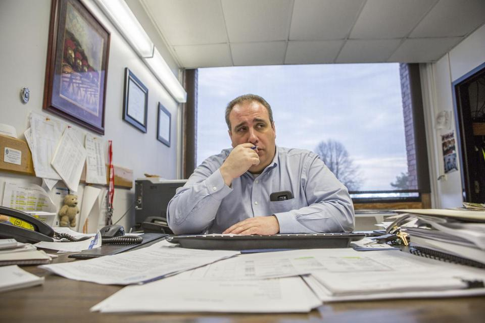 Leonard Campanello, the police chief in Gloucester, Mass., Dec. 10, 2016. Believing addiction is a disease, the Gloucester Police Department has become the unusual law enforcement agency offering heroin users an alternative to prison. (Shiho Fukada/The New York Times)