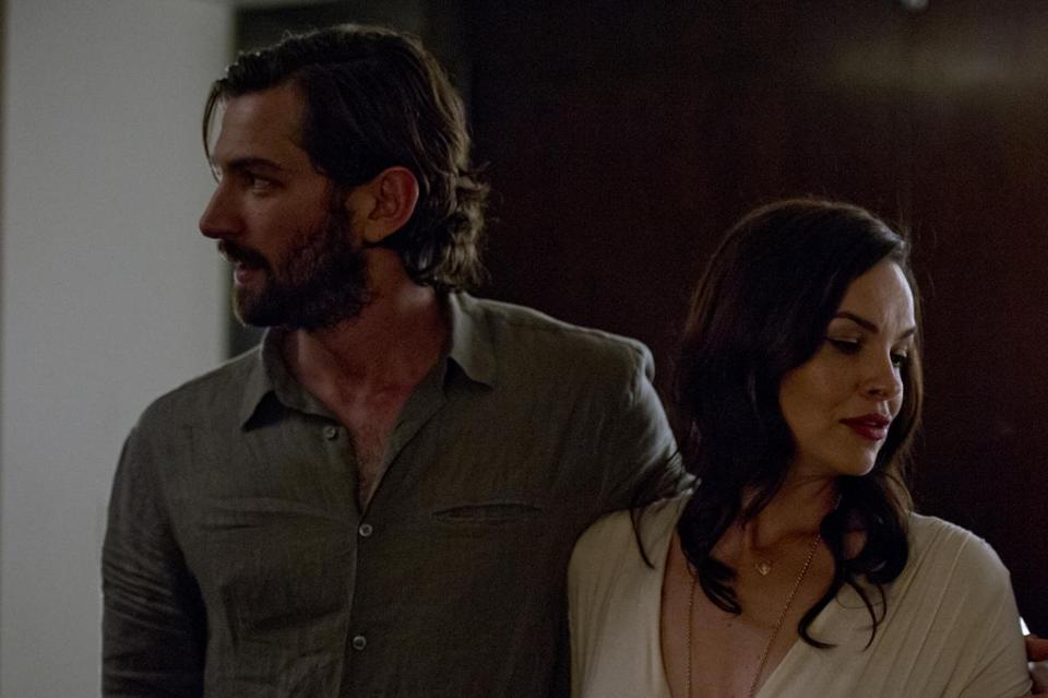"Michiel Huisman and Tammy Blanchard in ""The Invitation."""