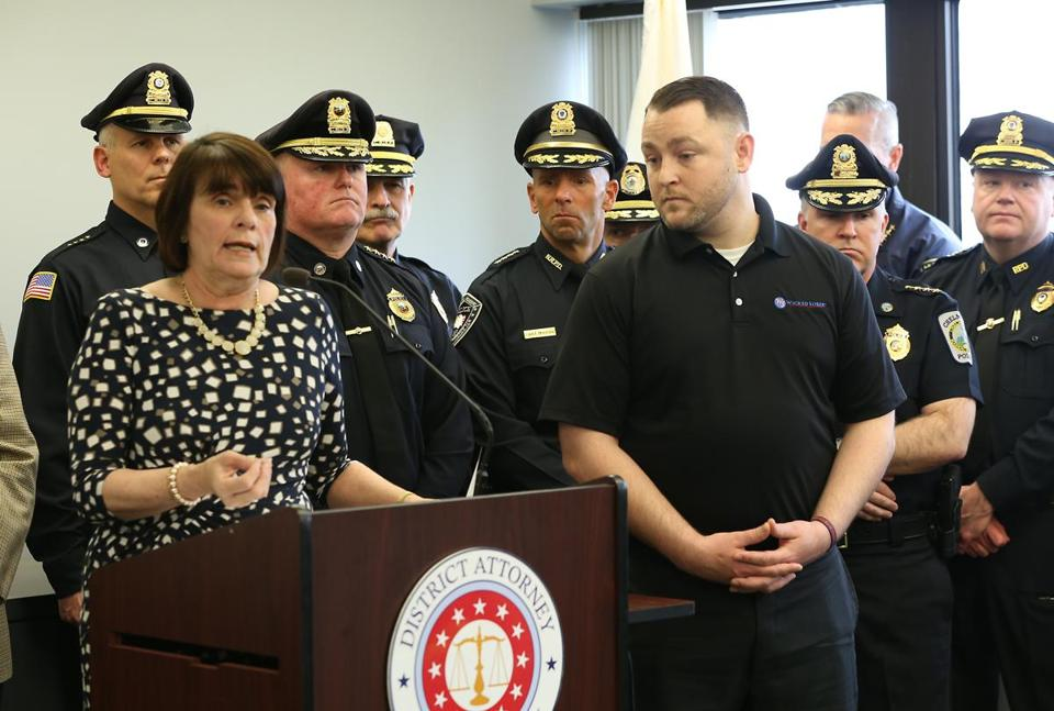 Middlesex district attorney Marian Ryan, left, addressed the spike in overdoses at a press conference.