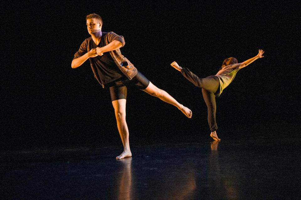 Grant Jacoby and company member Audrey MacLean.