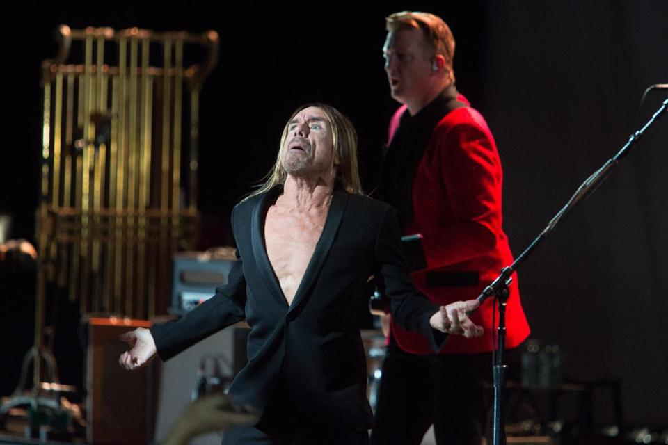 Iggy Pop performing at the Orpheum Theatre on Monday night.