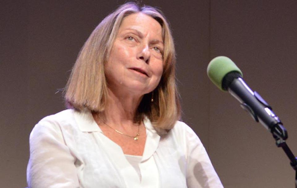 "Former New York Times editor Jill Abramson and New York Times media and culture critic David Carr during event called ""Fast Forward"" sponsored by WBUR and moderated by Jeremy Hobson at BU. Josh Reynolds for The Boston Globe (Names, smithsp)"