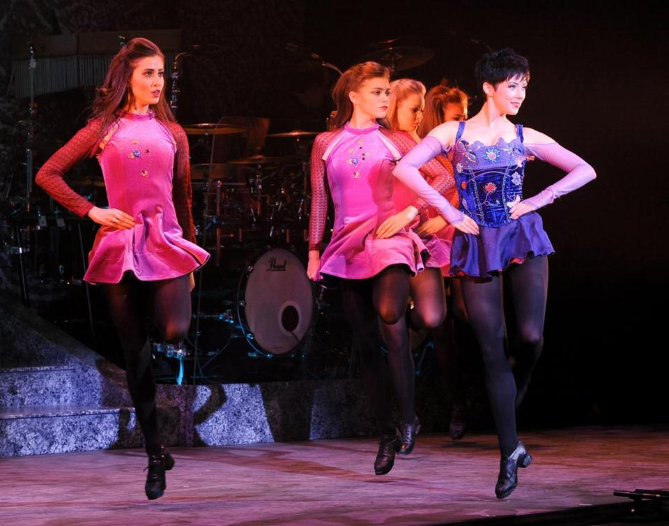 "Performers in ""Riverdance: The 20th Anniversary Tour."""