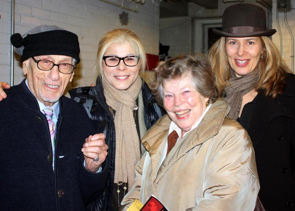 Ms. Jackson (second right) joined part of her family — Eli Wallach and daughters Roberta and Katherine — in Boston.
