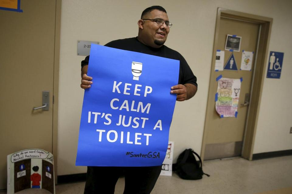Protesters Target First Gender Neutral Bathroom In La School District The Boston Globe