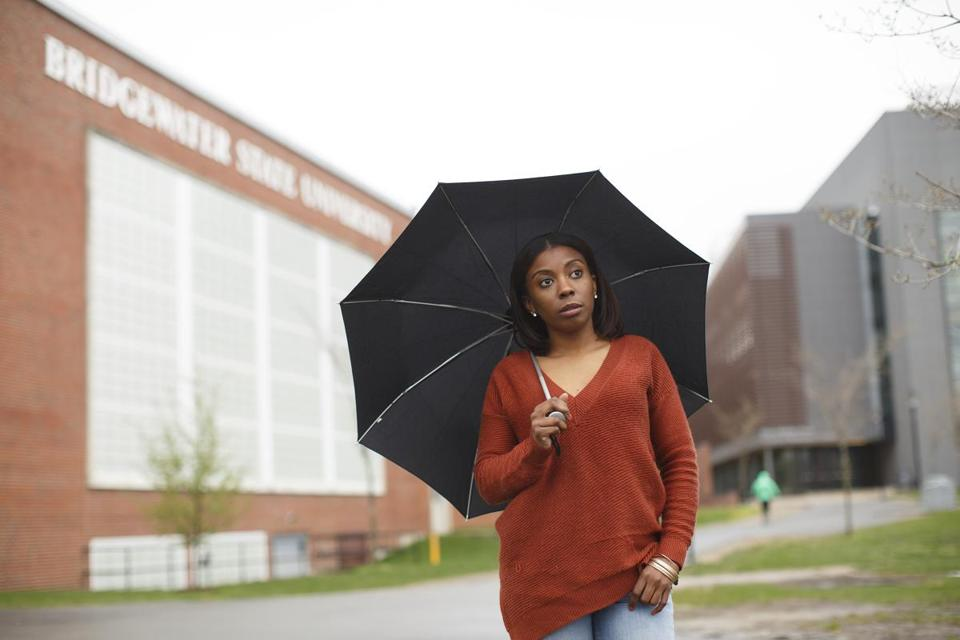 HIGH SCHOOLNewton South, 2009 (via METCO) HIGH SCHOOLNewton South, 2009 (via METCO) ATTENDS Bridgewater State  Johnson enrolled at Pine Manor in 2009 but dropped out after two years when she couldn't cover the costs; she later transferred to UMass Boston while working full time, then faltered academically. Now 25, she works full-time and part-time jobs and attends Bridgewater State.  CURRENT DEBT $65,000. (Dina Rudick/Globe Staff.)