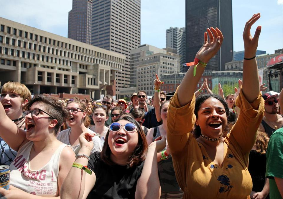 Boston Calling on City Hall Plaza in 2016. The festival will be in a new location this year: the Harvard Athletic Complex.