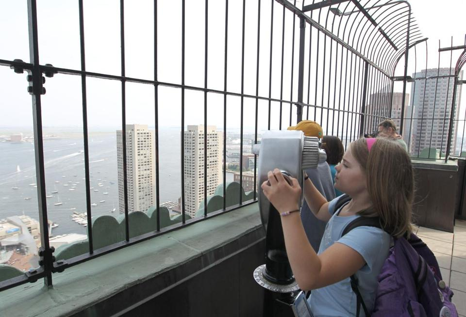 High up in the Custom House Tower — what was for many years Boston's tallest building — is an observation deck that's public — but only on weekdays for a 2 p.m. tour. The suggested donation is $4