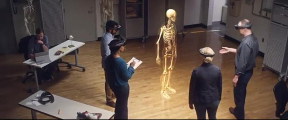 Microsoft HoloLens used for an anatomy lesson. Tech Lab 6-2-16
