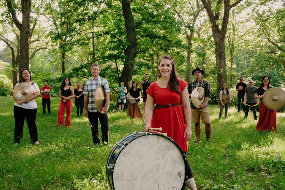 Maria Finkelmeier  (front) and the Kadence Arts group.