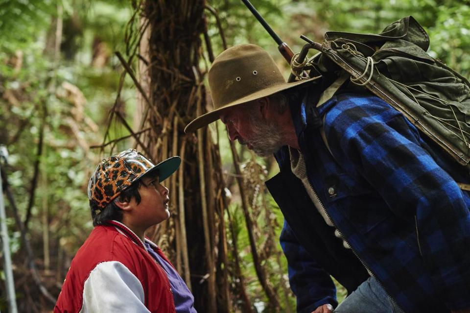 "Julian Dennison and Sam Neill  in ""Hunt for the Wilderpeople."""