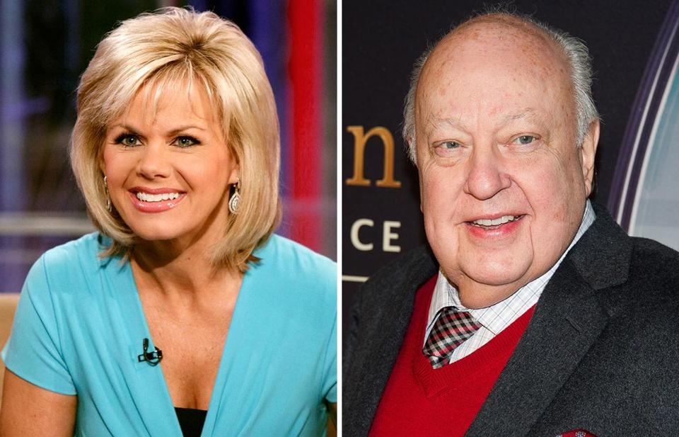 Former Fox News anchor Grechen Carlson (left) alleges that network CEO Roger Ailes made sexual advances toward her.