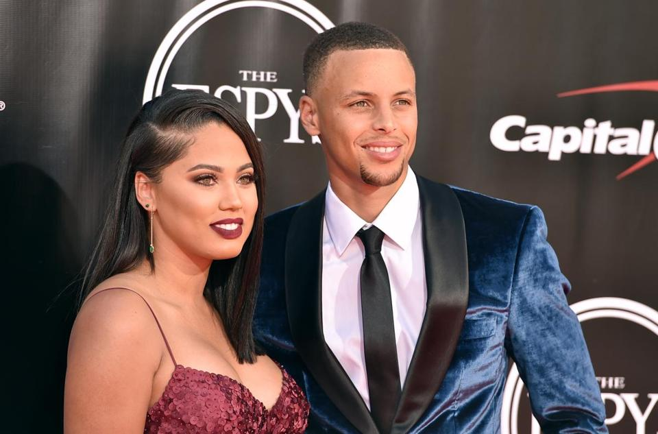 Stephen (right) and Ayesha Curry arrived at last week's ESPYS.
