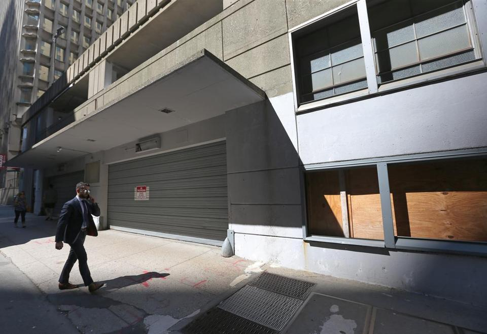 The city-owned Winthrop Square Garage in downtown Boston has long been condemned and shuttered.