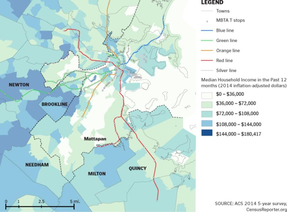 There are few speedy transportation options for Mattapan residents trying to get to other parts of the city.