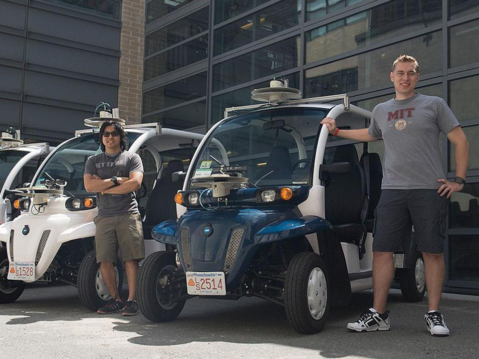 MIT researchers and Ford will roll out three on-demand electric vehicle shuttles at the school in September.