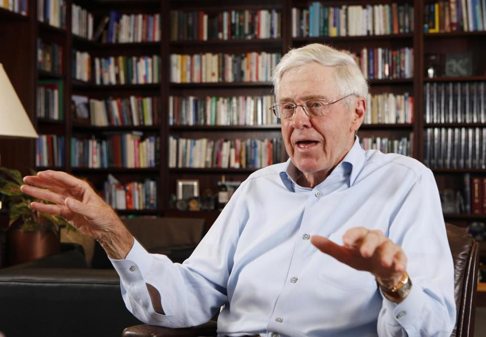 Charles Koch Says Trump's Trade Moves May Trigger U.S. Recession
