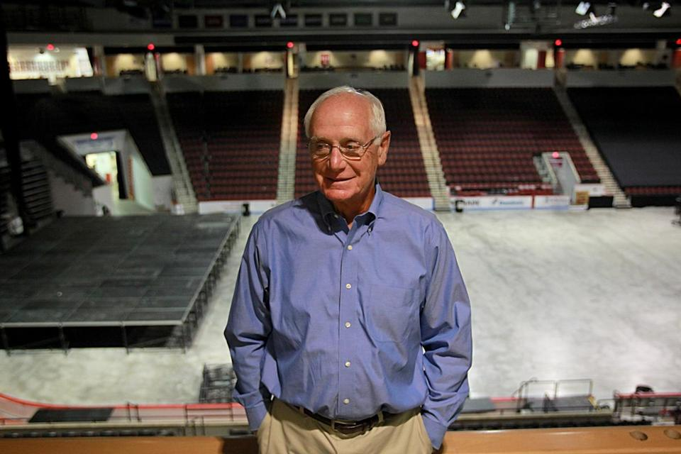 Former Boston University hockey coach Jack Parker recently sought treatment for fear of heights and claustrophobia.