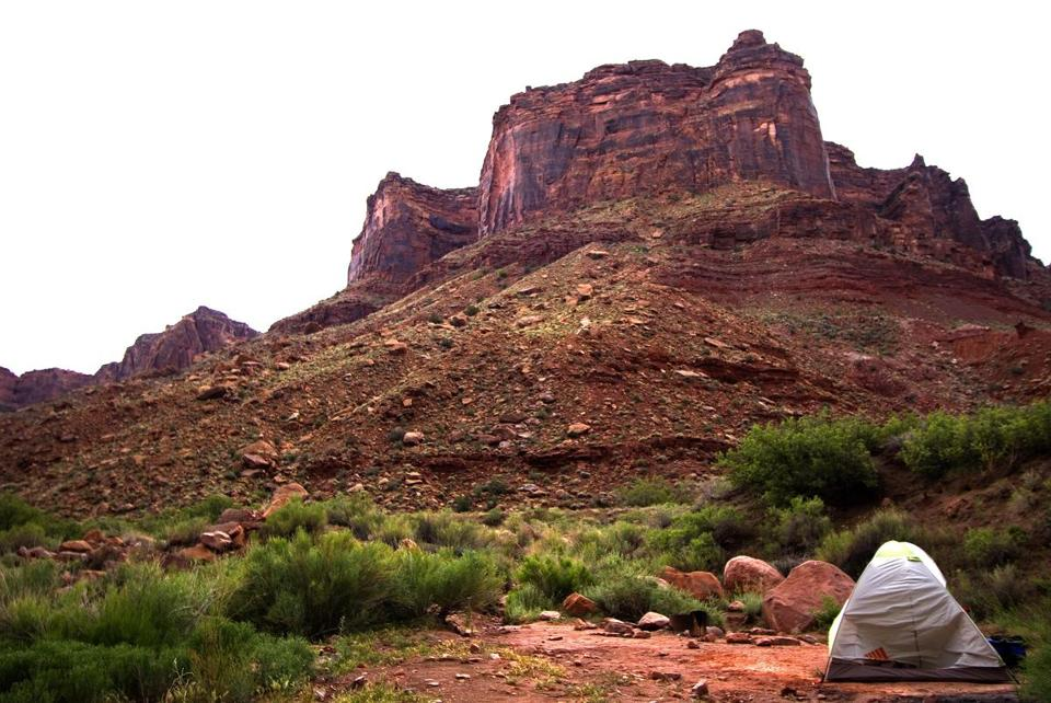 One of the great camping spots in America -- on Bureau of Land Management property next to the Colorado River.