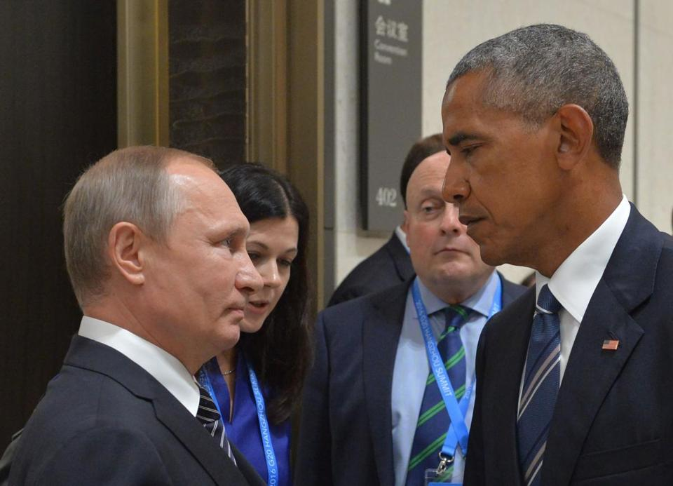 Russian President Vladimir Putin and President Obama spoke Monday on the sidelines of the G-20 summit Hangzhou, China. Putin has previously denied Russian involvement in hacking US networks.
