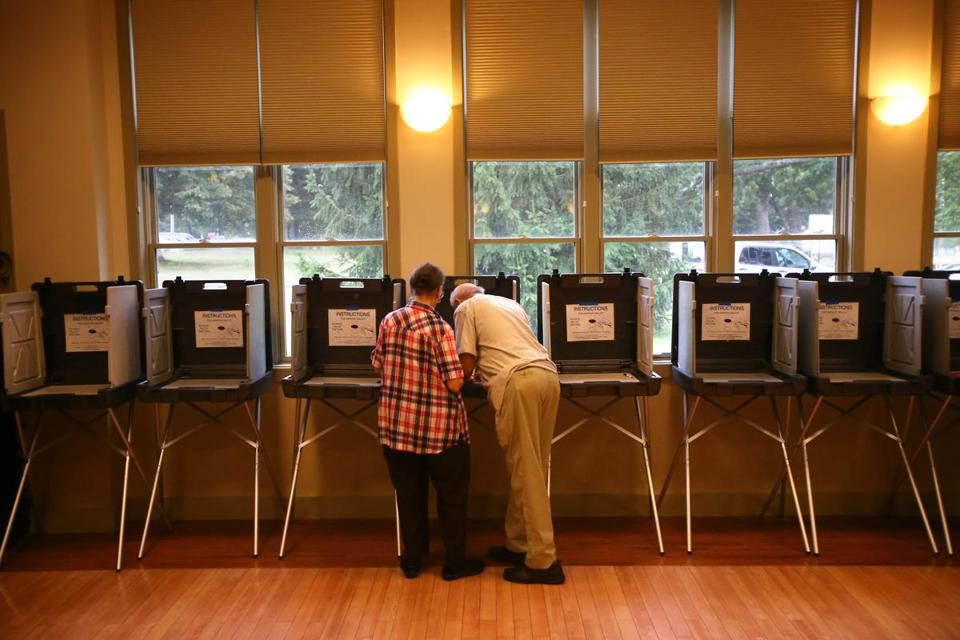 Turnout was low at Milton's senior center, where both Wards 2 and 4 voted.