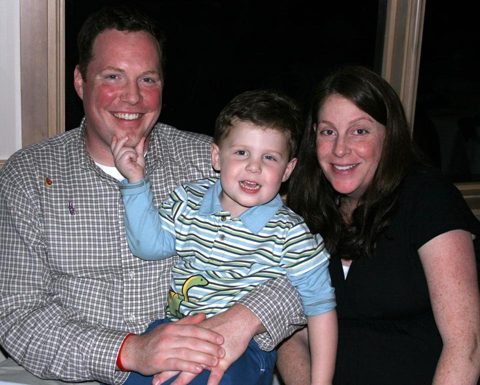 FOR LACEY PROJECT ONLY. Lacey_online_Photo - Info from source: Will Lacey with mother and father. September 10, 2007. (Lacey family)