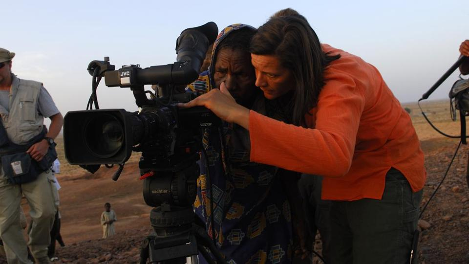 "Kristen Johnson (right), shown in footage from ""Cameraperson."""