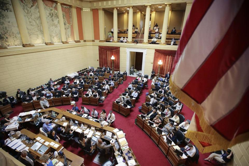 Rhode Island lawmakers in the House of Representatives deliberated last June.