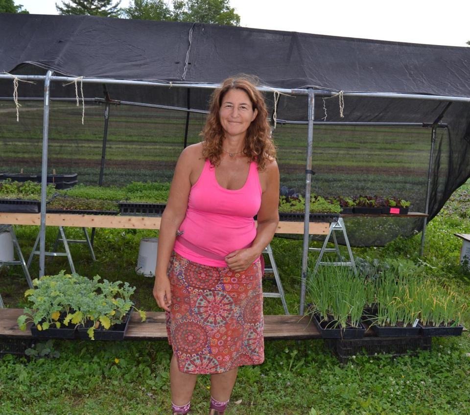 Laura Meister, owner of the Farm Girl Farm, grows a variety of vegetables to sell to local chefs and at farmer's markets.