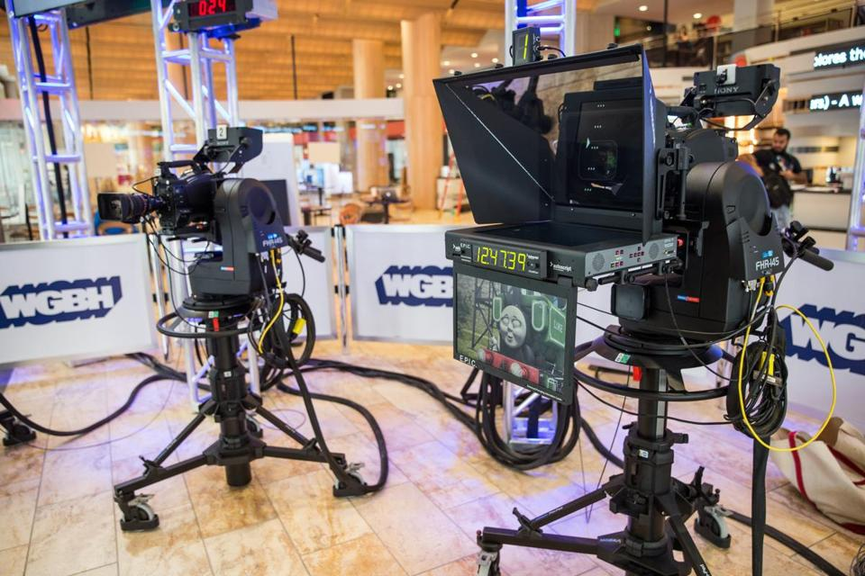 Remotely operated cameras at new WGBH Studio at the Boston Public Library.