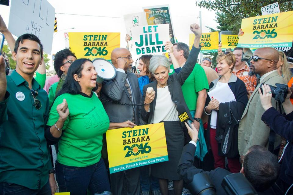 Green Party's Jill Stein continues to make her stand - The ...