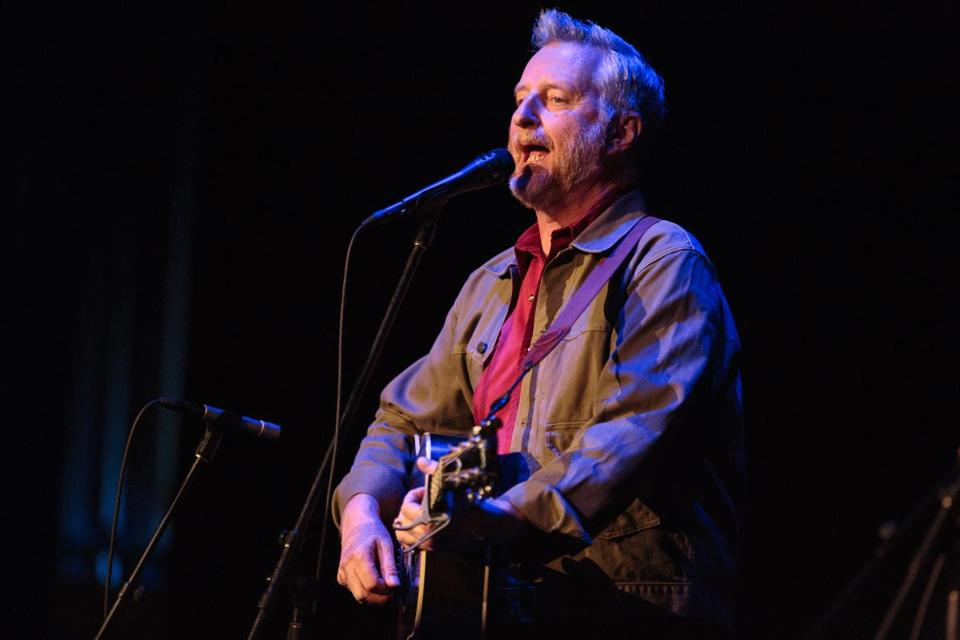 Billy Bragg performs at the Wilbur Theater in 2016.