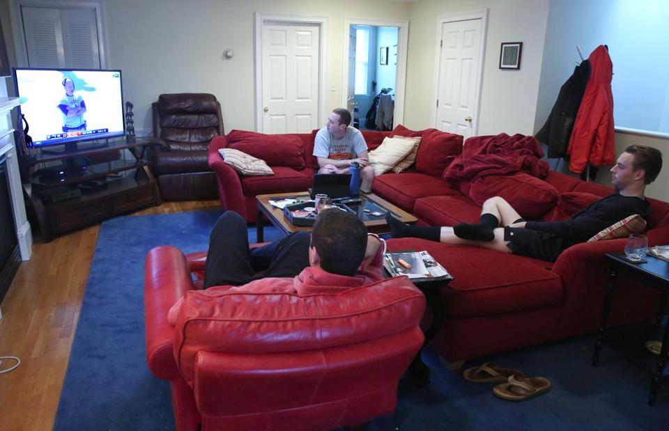 For roommates Chris Fulenwider, Brien Bates, and Keith Baer, one of the toughest decisions to make Sunday was what food to order before the presidential debate.