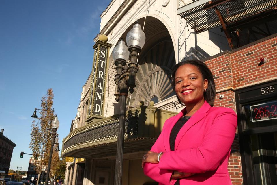 Boston, MA--10/12/2016--State Senator Linda Dorcena Forry (cq) is photographed in Uphams Corner, on Wednesday, October 12, 2016. Photo by Pat Greenhouse/Globe Staff Topic: women-politics-Dorcena Forry Reporter: Shirley Leung