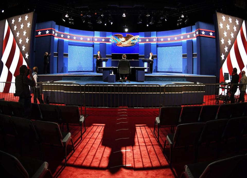 Preparations were underway Tuesday at the debate site, at the University of Nevada Las Vegas.