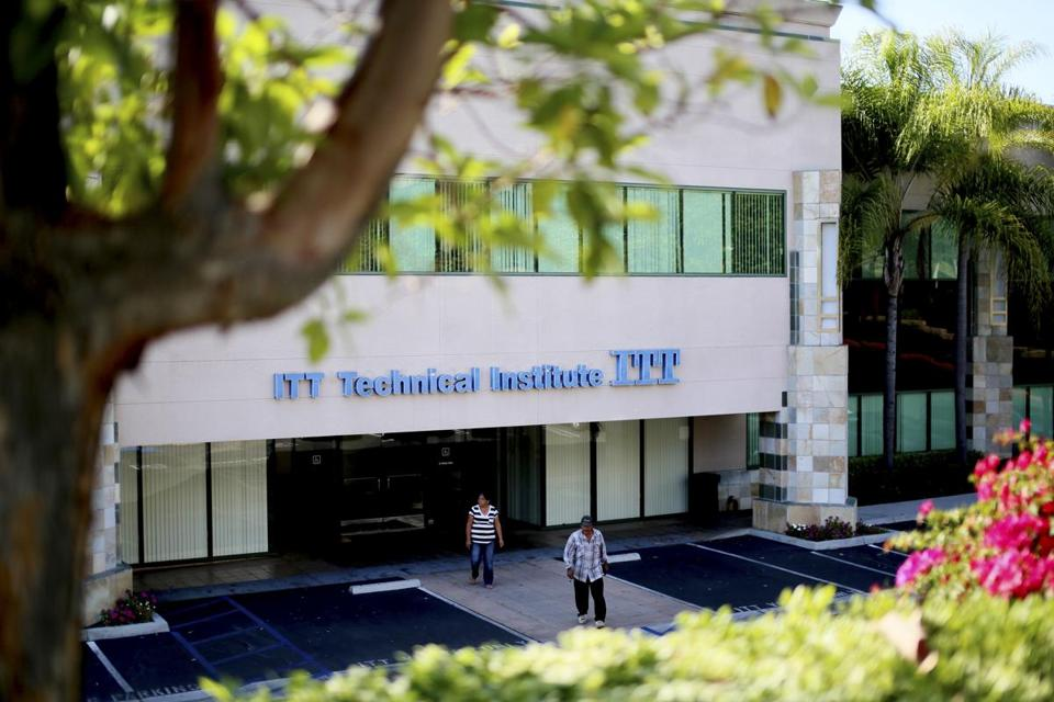 An ITT Technical Institute building in Vista, California, Sept. 6, 2016. The chain of for-profit colleges has announced it is closing, putting an end to an operation that has been accused of fraud and abuse. (Sandy Huffaker/The New York Times)