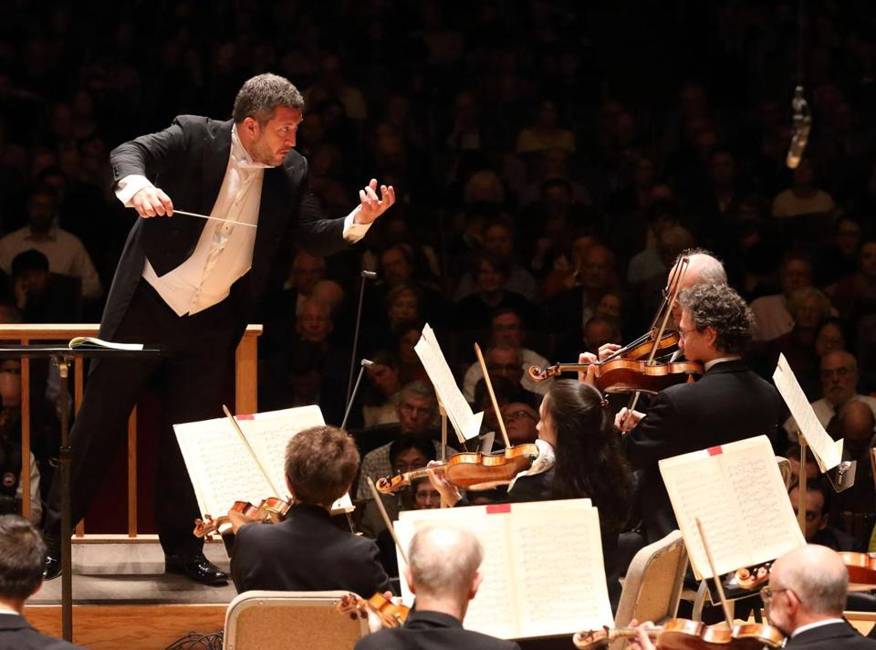 "Thomas Adès led the Boston Symphony Orchestra in his work ""Totentanz."""
