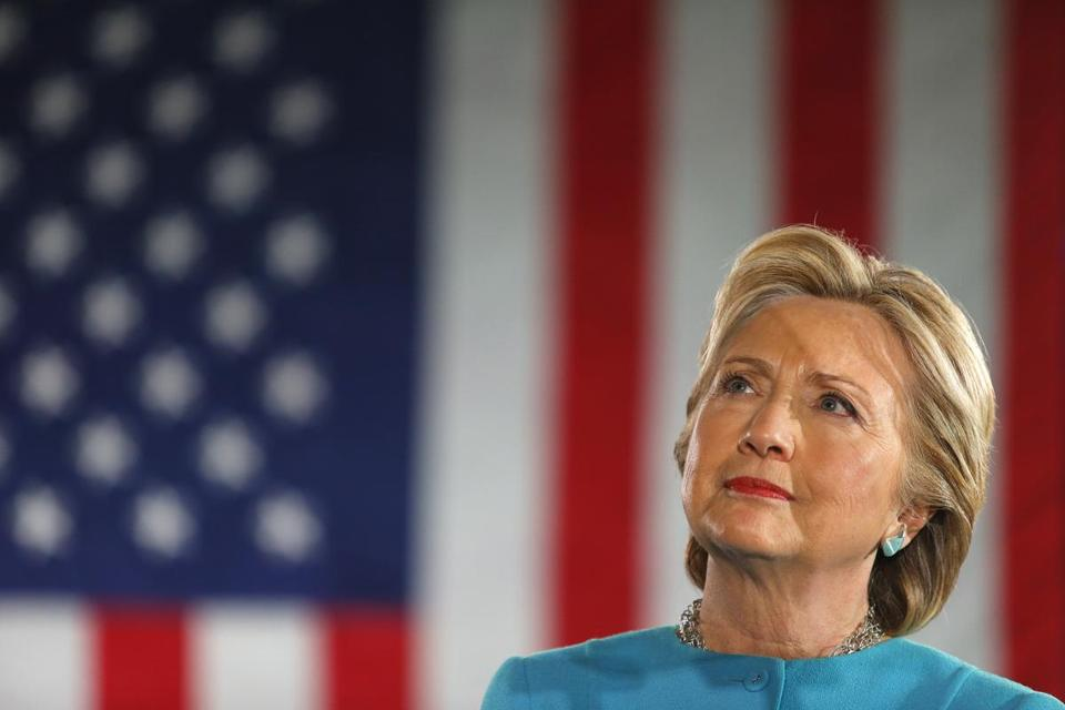 Hillary Clinton during a campaign event in New Hampshire earlier this month.