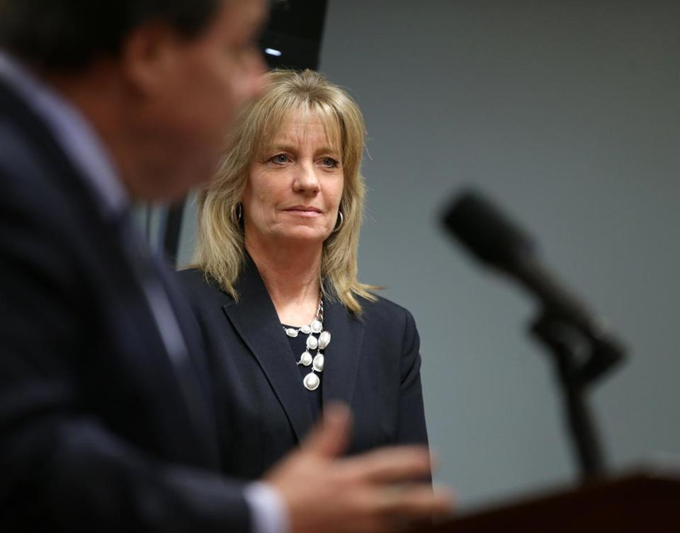 Quincy Ma- 11/10/2016- Joanne Peterson (cq) founder of Learn to Cope, a non profit working to end opioid addicton at a afternoon press-conference where Attorney General Maura Healey (cq) announced a statewide grant program to fund youth opiod prevention efforts .Boston Globe (Jonathan Wiggs /GlobeStaff Reporter:Topic