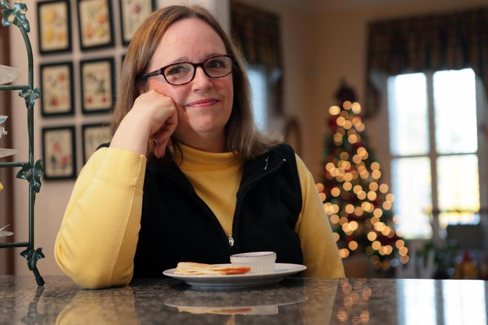 Wendy Guiles-Trombetta sat down to quesadillas for lunch.