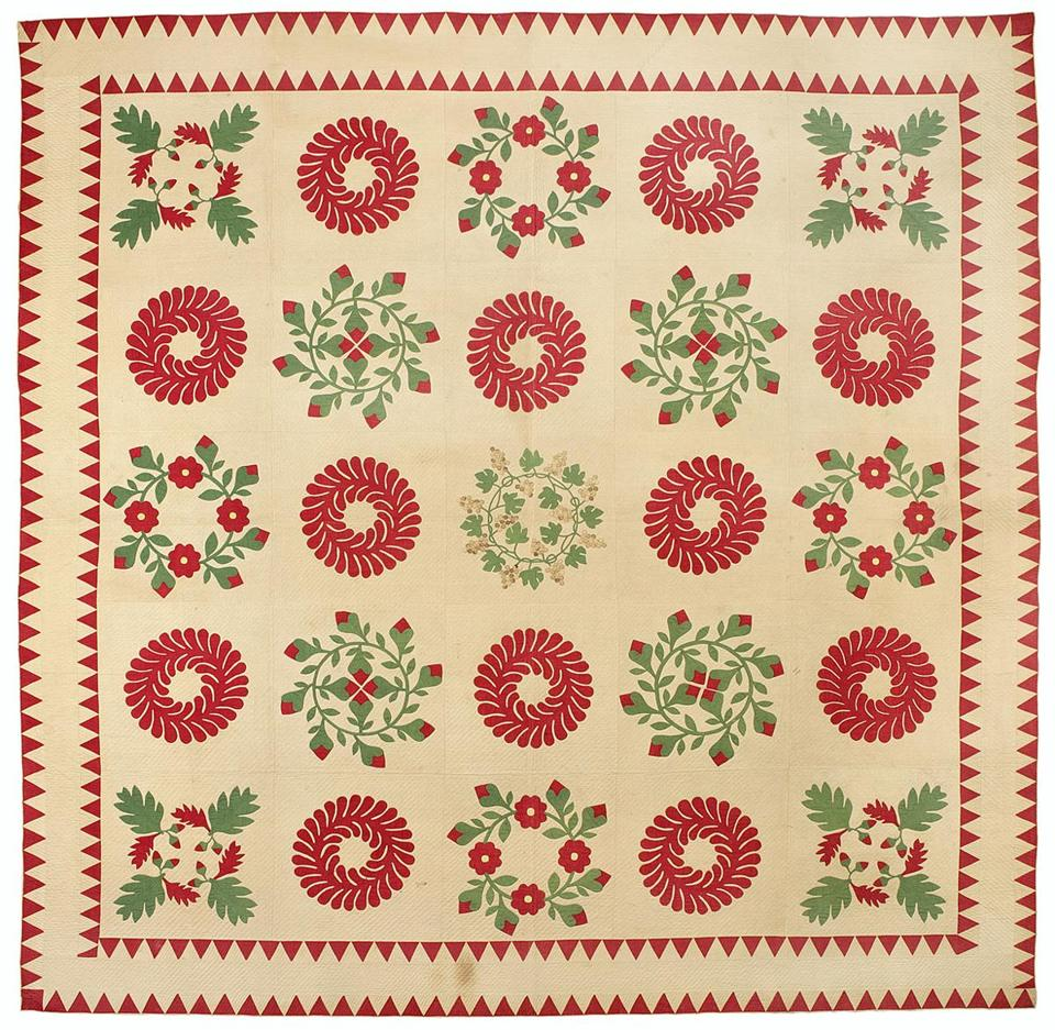 A 19th-century quilt from Maryland or Pennsylvania