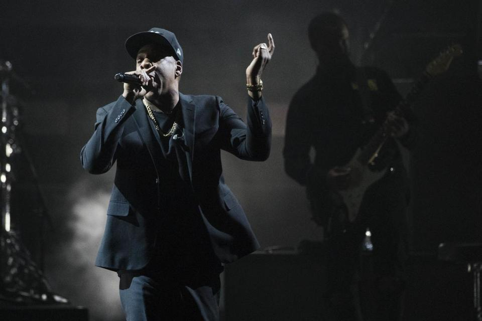 Jay Z performs in Cleveland last November.