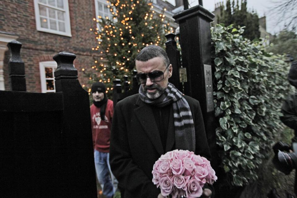 In December 2011, George Michael left his house in north London after recovering from a life-threatening bout with pneumonia that kept him in a Vienna hospital for a month.