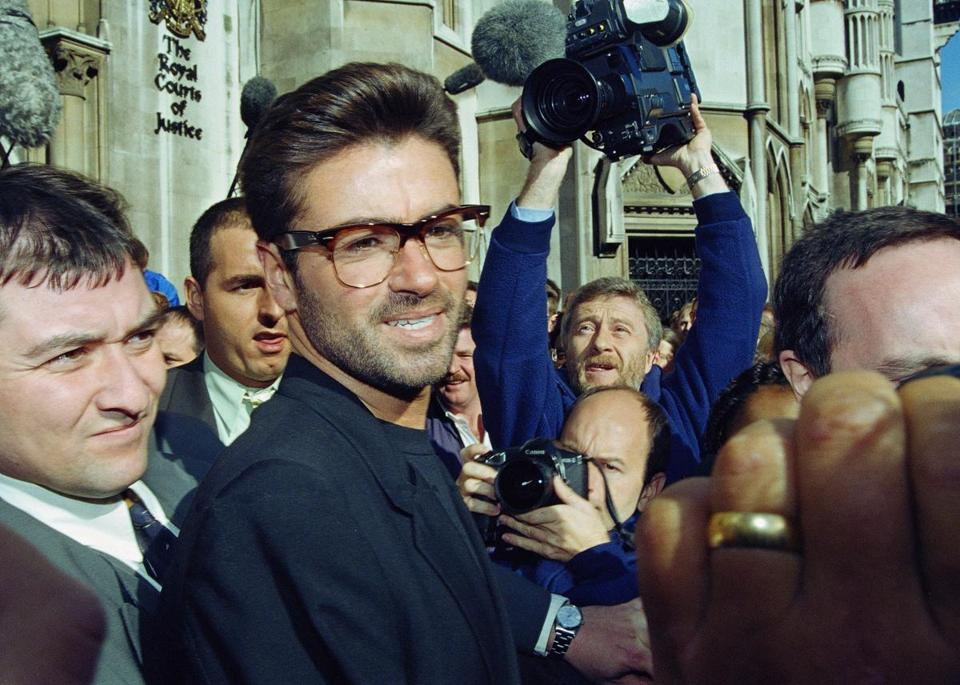 In October 1993, George Michael, then 30, stood outside the Royal Courts of Justice in London at the start of his court action against Sony.