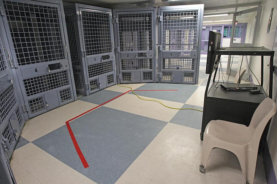 "The Secure Treatment Program at Souza-Baranowski Correctional Center in Shirley includes individual ""therapy modules"" for group therapy sessions."