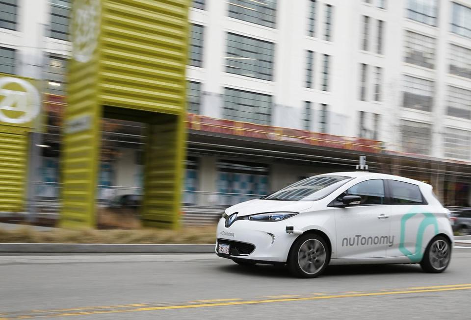 NuTonomy's driverless car takes a spin around Drydock Ave.