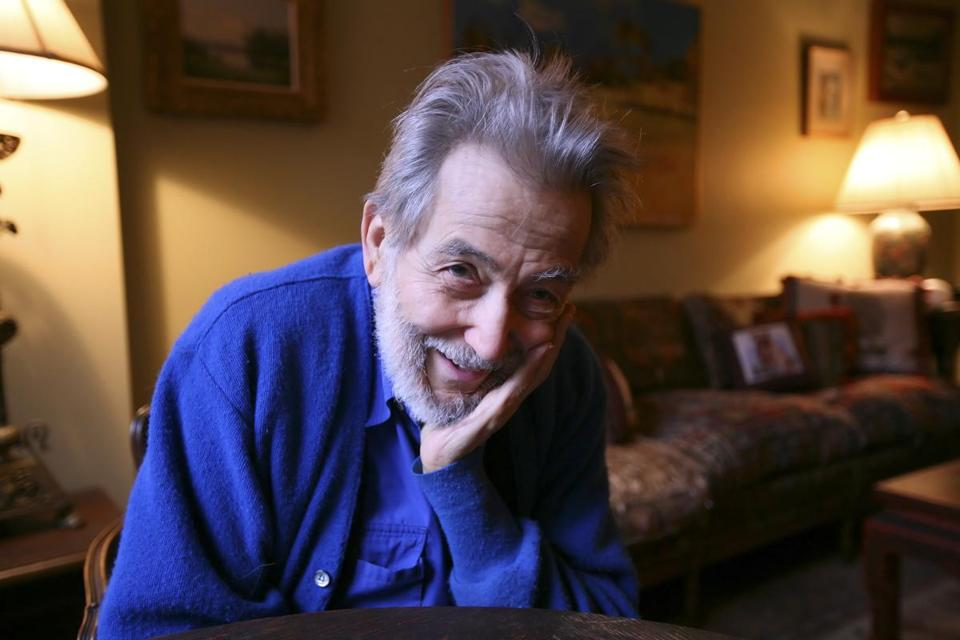 Nat Hentoff in his New York apartment in 2009. The Roxbury raised Hentoff, known for his work at The Village Voice and for writing 35 books, died Saturday.