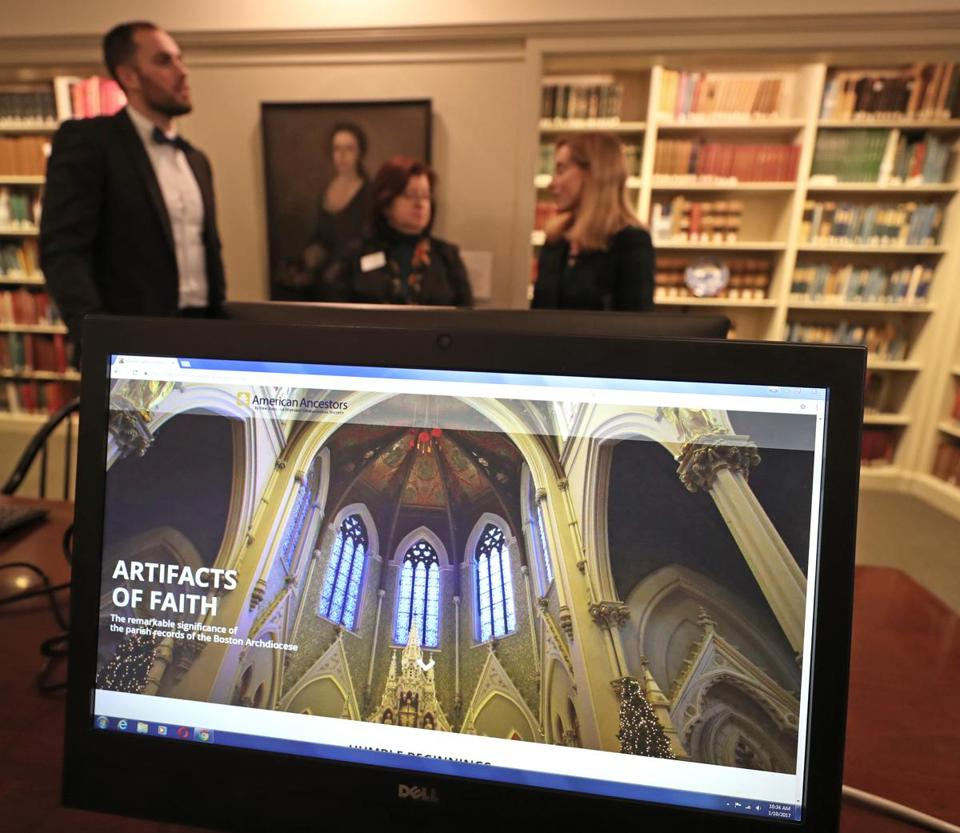 A computer website can now be used to look up some personal and historical documents from Boston area parishes.