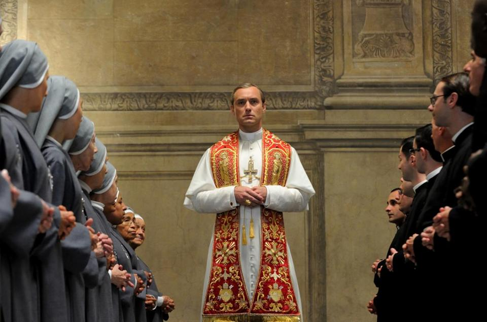 "Jude Law in HBO's ""The Young Pope."""