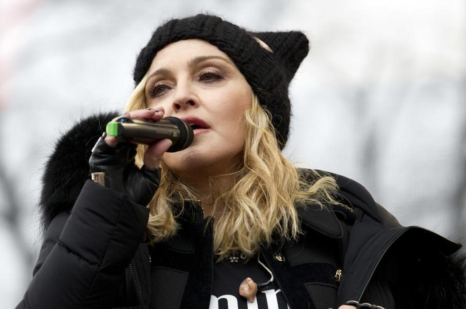Madonna at the Women's March on Washington rally on Saturday: not helpful.